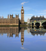 London, reflection in river. — Stock Photo