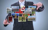 Muži představuje obrázky — Stock fotografie