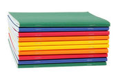 Multicolored exercise books — Stock Photo