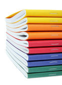 Multicolored exercise books — Photo