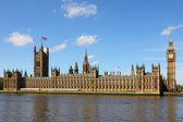 Houses of Parliament and Big Ben in Westminster, London. — Stock Photo