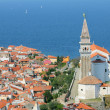 View on the historical city of Piran, Slovenia. — Stock Photo