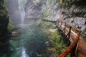 川、ヴィントガル峡谷、トリグラフ - スロベニア — ストック写真