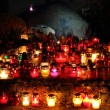 Stockfoto: Candle on grave of Warsaw Uprising soldiers