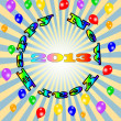 Vector Happy New Year - 2013 colorful background, eps10 vector illustration — Stock Vector