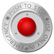 Stock Vector: Red stop button