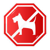 No dogs sign — Stock Vector