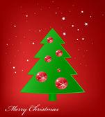 Weihnachts-grußkarte. frohe weihnachten-schriftzug — Stockvektor