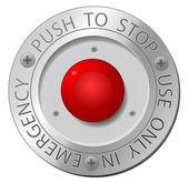 Pulsante di stop rosso — Vettoriale Stock