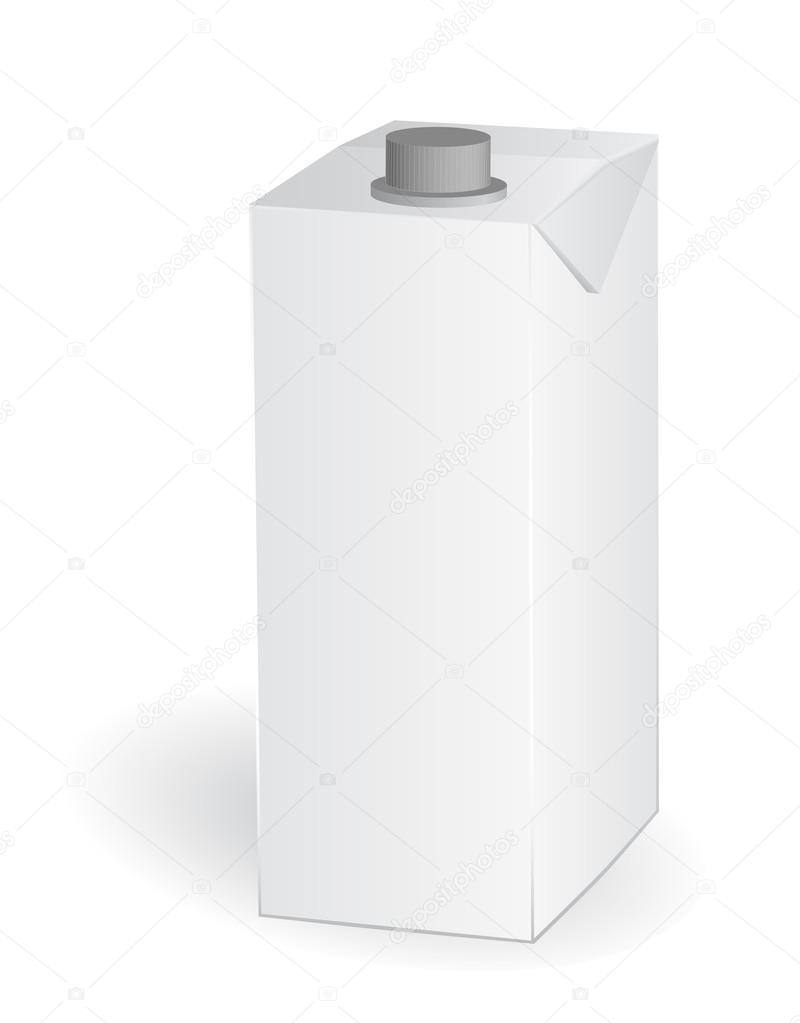 Empty carton one liter for new design, vectorempty carton one liter for new design, vector — Stock Vector #17181039