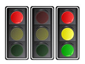 Traffic lights, vector — Stock Vector