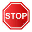 Sign stop - Stock Vector