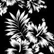 Hawaiian patterns, black and white tone. - 图库照片