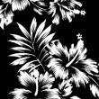 Hawaiian patterns, black and white tone. — Stock Photo