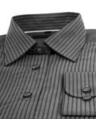Black pinstriped dress shirt over a white background — Stock Photo