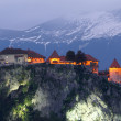 Stock Photo: Bled castle at evening , Alps, Europe, Slovenia.