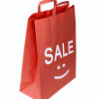 Stock Photo: Shopping red bag for sale