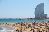 Barcelona, city beach, Spain — Stock Photo