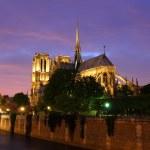 Notre Dame, Paris at night. — Stock Photo #34094327