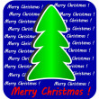 Modern Christmas Tree on blue background, — Stock Photo