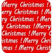 Lettering Merry Christmas inscription, on red background, vector — Stock Photo