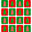 Simple Christmas tree seamless pattern — Stock Photo