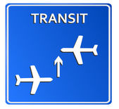 Blue Airport Icon, Transit..Vector illustration — Stock Photo