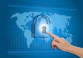 Conceito de acesso à internet seguro ou bloqueados — Fotografia Stock