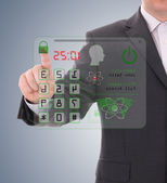 Man pressing the security code — Stock Photo