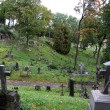Famous old Rasu cemetery in Vilnius, Lithuania — Stock Photo