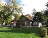 Vilnius, house where saint sister faustina lived — Stock Photo