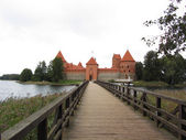 Trakai castle in Lithuania, Vilnius, one of the most popular touristic destinations in Lithuania. — Stock Photo