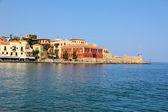 Promenade in city of Chania on island of Crete, Greece — Stock Photo