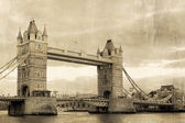Vintage view of London,Tower Bridge — Stock Photo