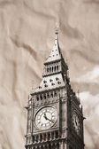 Vintage view of London, Big Ben — Stock Photo