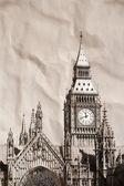 Vintage vue de Londres, big ben — Photo