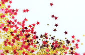 Stars confetti isolated on white background — Stock Photo