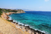 Blue sea with rocks on Crete, Greece — Stock Photo