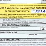 Polish tax forms, PIT-36L — Stock Photo