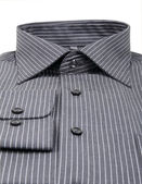 Black pinstriped dress shirt isolated over a white background — Stock Photo