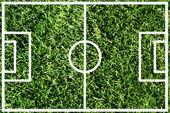 Soccer field or football field — Stock Photo
