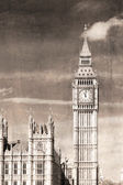 Old view of Big Ben — Stock Photo