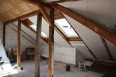 After reworking (renovation) of the old attic — Stock Photo