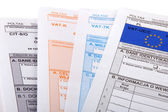 Blank income tax forms. Polish forms PIT . — Foto de Stock