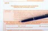 Polish tax forms, VAT-R — Foto de Stock