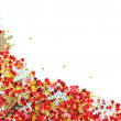 Golden and red stars in the form of confetti on white — Stock Photo #51158403