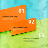 Three vector paper tags — Vettoriale Stock