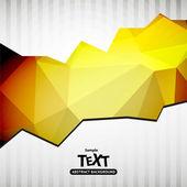Hintergrund mit dreieck-polygon — Stockvektor