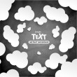 Abstract speech bubbles in the shape of clouds — Stock Vector #51192415