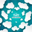 Abstract speech bubbles in the shape of clouds — Stock Vector #51192425